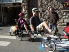 or on a recumbent tandem en route to the Med